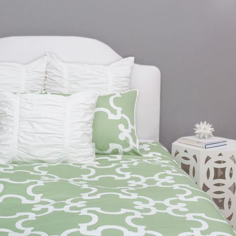 Bedroom inspiration and bedding decor | The Noe Green Duvet Cover | Crane and Canopy
