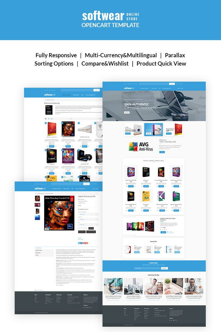 Software Store Website Template