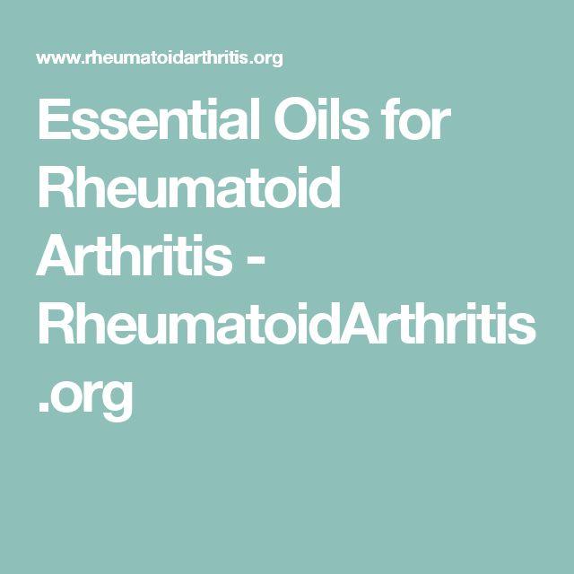 Essential Oils for Rheumatoid Arthritis - RheumatoidArthritis.org