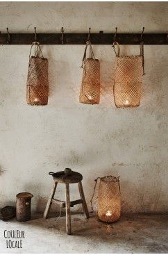 ... rattan wicker candleholder ...: