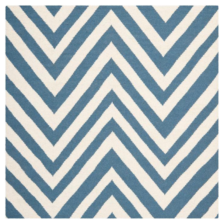 Nala Dhurry Rug - Blue/Ivory - (8'x8' Square) - Safavieh