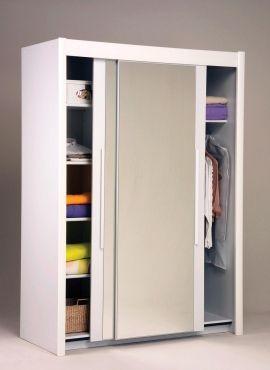 Schwebetüren Kleiderschrank Marco I  #Möbel #weiß #Schlafzimmer #Kleiderschrank #Schrank #Schwebetüren