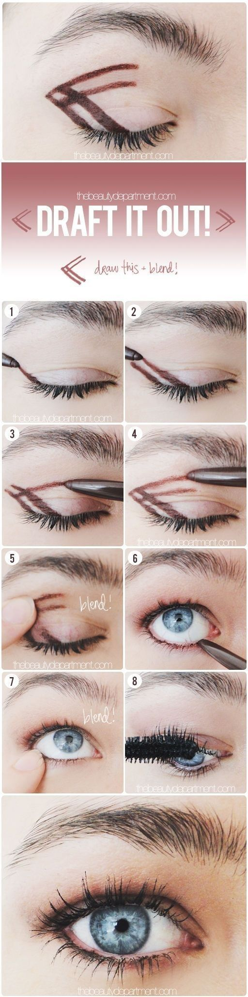 Use this drawing technique to get the easiest, most natural smoky eye ever. | 41 Life-Saving Beauty Hacks Every Girl Should Have In Her Arsenal: