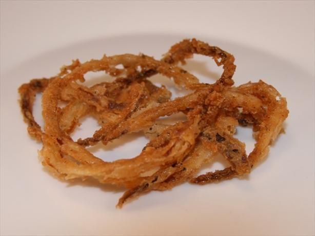 Crispy Fried Onion Strings | Recipe | Salts, Spicy ranch ...