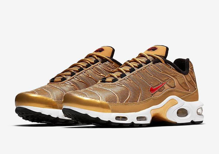 "http://SneakersCartel.com Nike Air Max Plus ""Metallic Gold"" Release Date #sneakers #shoes #kicks #jordan #lebron #nba #nike #adidas #reebok #airjordan #sneakerhead #fashion #sneakerscartel"