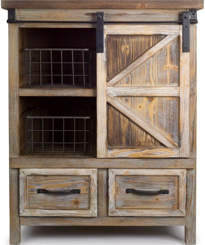 Country Rustic Wooden Storage Cabinet, Rustic Storage Cabinets