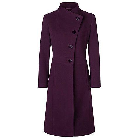 Buy Kaliko Full Skirt Funnel Neck Coat, Dark Red Online at johnlewis.com