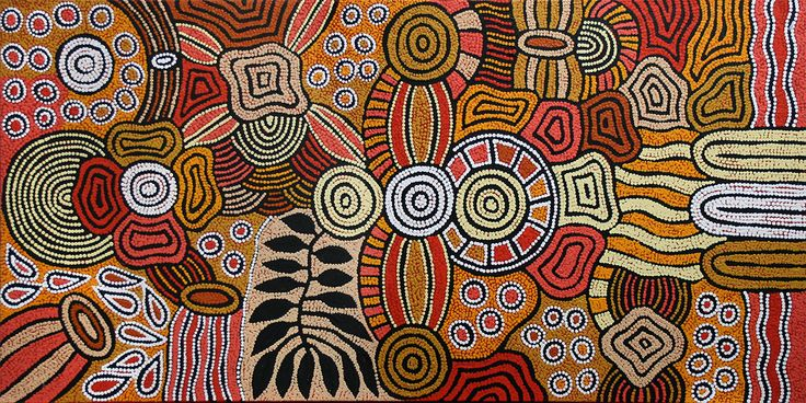 THE ARTERY Aboriginal Art - In 'Women's Body Paint', the two larger concentric circles represent the ceremonial sites where the women engage in women's business, such as 'painting up' for ceremony. This entails women applying natural pigments to their bodies. The arc-like adjoining lines are representative of the 'Song lines' that connect the two ceremonial sites. 'Song Lines' are the travel lines - as the women journey from sacred site to sacred site they sing the ceremonial ...