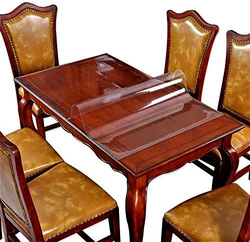 Large Dining Coffee Table Topper Furniture Cover Protector Clear