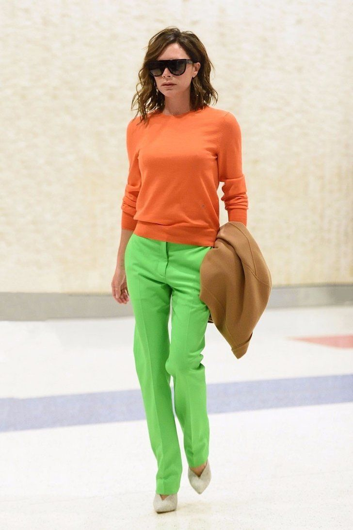 Victoria Beckham's Colorblock Look Is So Bright, It Just Might Leave You Blinded