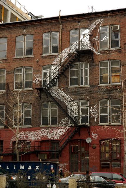 Unknown Artist -Snake and ladder (staircase) in Montreal #Treppen #Stairs #Escaleras