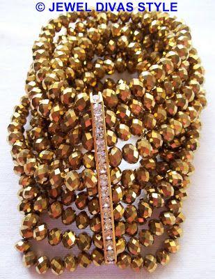 My version of Samantha Wills Smoke & Ice bracelet in gold - http://jeweldivasstyle.com/designer-inspired-how-to-make-your-own-version-of-samantha-wills-smoke-and-ice-bracelet/