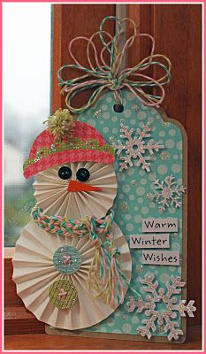 Snowman tag - would be really cool with the rosettes from the close to my heart artiste cartridge http://overhobbied.ctmh.com/Retail/Product.aspx?ItemID=6719=1740