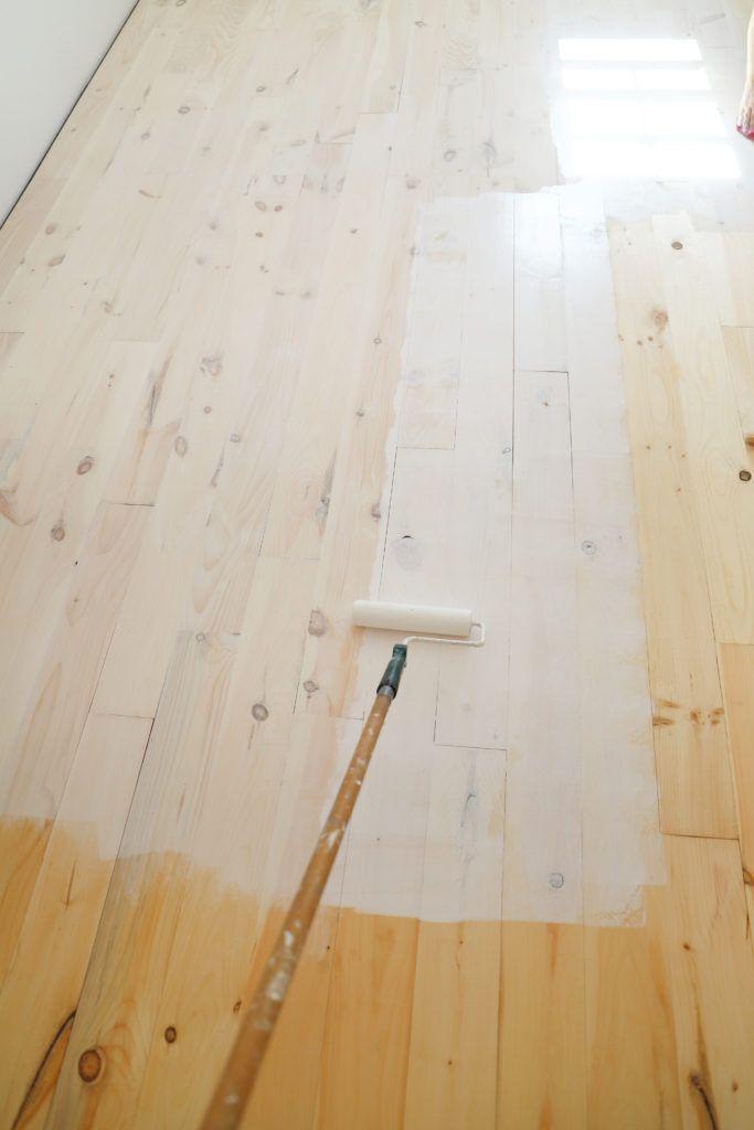 Diy Whitewashed Wood Floors In 2020 Diy Hardwood Floors Diy Wood Floors Whitewashed Hardwood Flooring