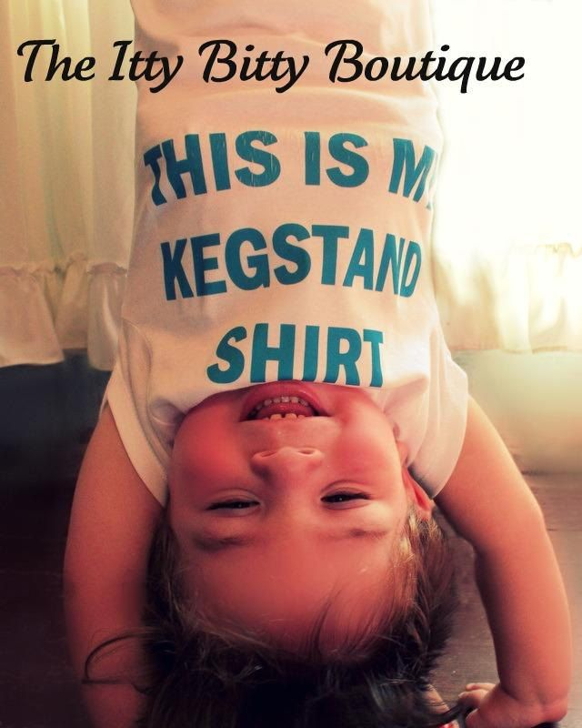 This Is My Kegstand Shirt  Funny Baby Onesie  by ShopTheIttyBitty, $18.00