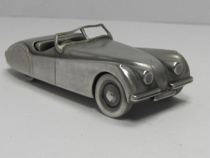 COLLECTIBLE: PEWTER DIE CAST JAGUAR XK 120 1949 PAPERWEIGHT ROADSTER
