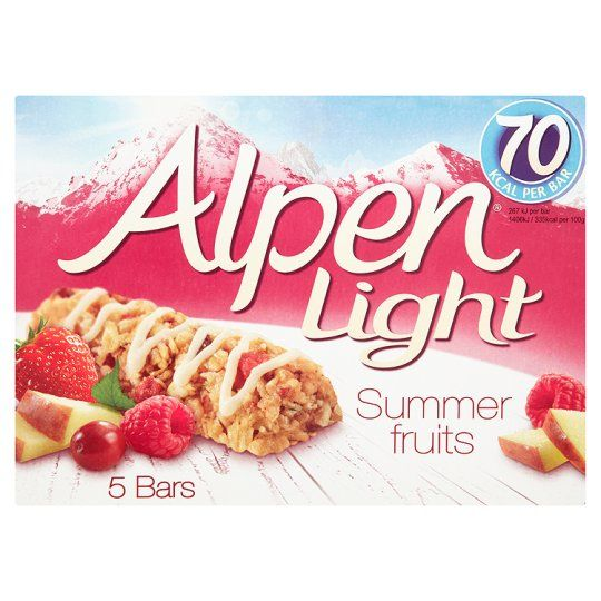 Alpen Light Summer Fruits Bars 5 Pack 95G