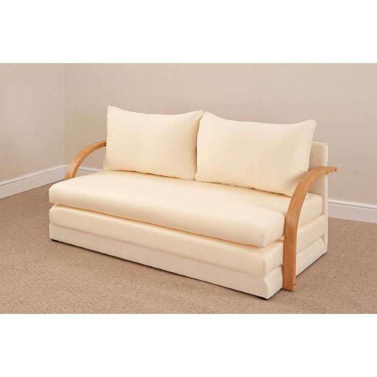 White Leather Sofa Bed Settee Double Foam Chloe Sofa Bed