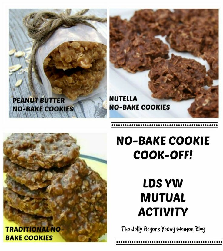 No-bake cookie cook-off! Mutual LDS YW activity from the Jolly Rogers Young Women Blog