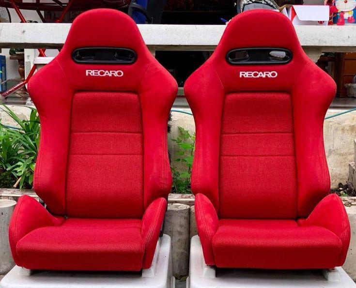 2 jdm recaro sr4 red rare bucket racing seats cars mustang