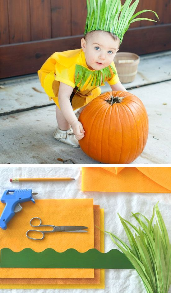 No-Sew Pineapple Costume | Click for 30 DIY Halloween Costumes for Kids to Make | DIY Halloween Costumes for Toddlers