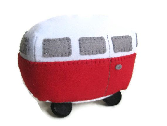 VW Campervan Gift VW Campervan Plush Collectible by GracesFavours