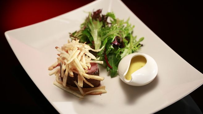 Salt Baked Chateaubriand with Chervil Béarnaise and Pommes Frites-2014