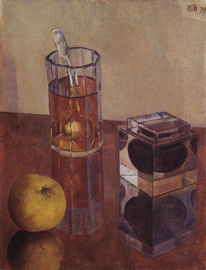 Петров-Водкин. Натюрморт с чернильницей. 1934