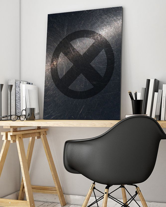 X-Men Symbol Canvas Art - Marvel Canvas Art @ http://artzeedesigns.com/products/canvas-art-marvel-inspired-art-comic-book-characters-x-men-by-artzee-designs.html