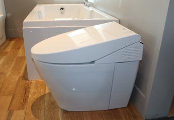 Toilette électronique, toilette éco responsable, toilette murale. http://www.boutiquealo.com/toilettes-et-bidets