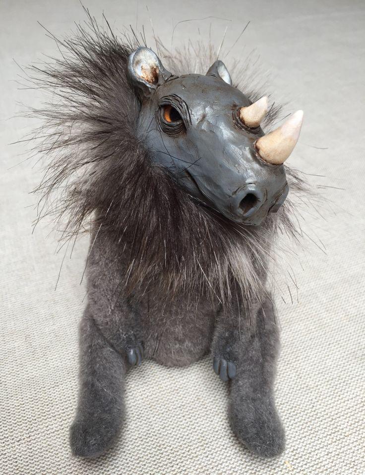 140$ + shipping, Rhino art doll by iasio, ooak art doll