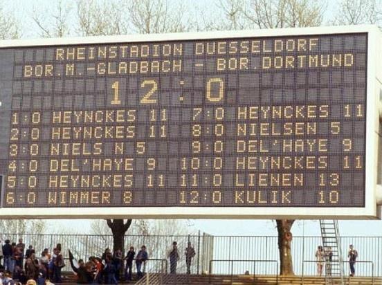 29. April 1978, Bökelberg - Borussia Mönchengladbach : Borussia Dortmund 12:0