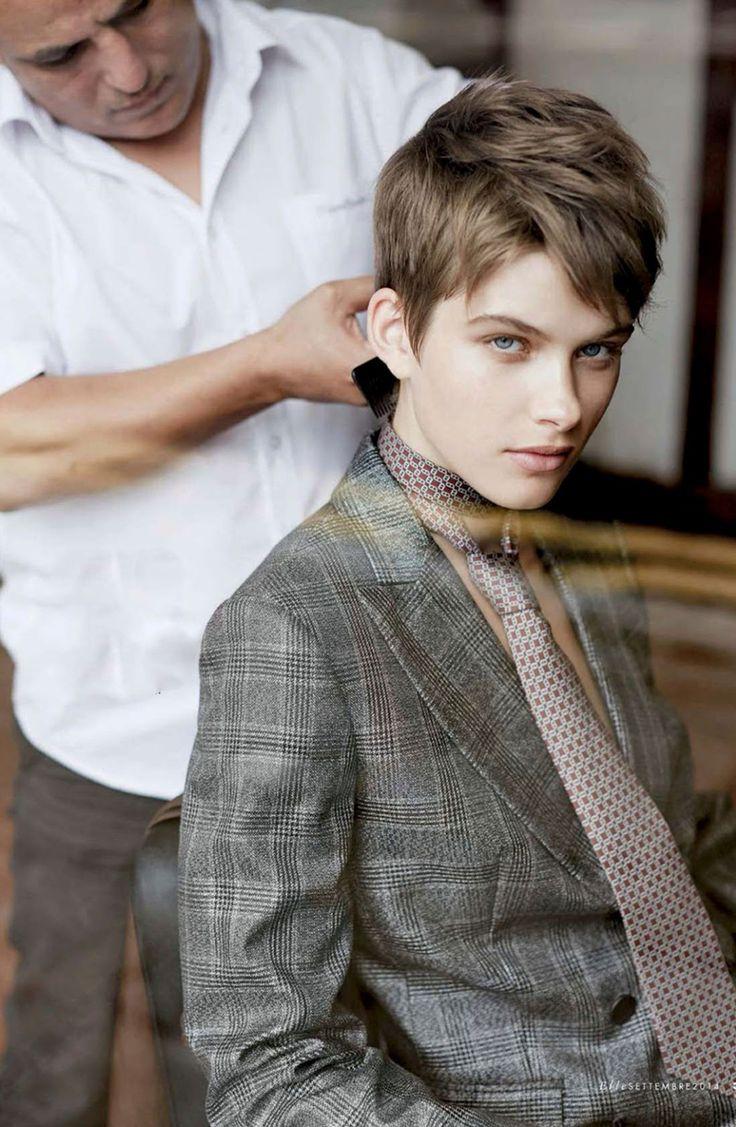 Benthe De Vries in Tendenze Boyish editorial   Elle Italia September 2014 (photography: Michael Sanders, styling: Micaela Sessa)