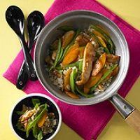 Hähnchen-Wokpfanne mit Basmati-Reis