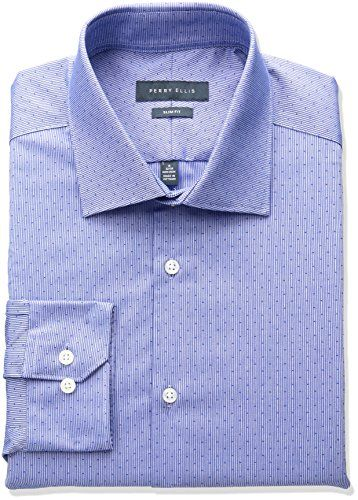 Perry Ellis Collection Men's Slim Fit Dobby Stripe Non-Iron Dress Shirt     #StPatricksDay #ForHim #ForHer #Holidays #GiftIdeas #Gifts #Affiliate