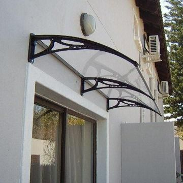 Curved Glass Door Canopy Polycarbonate Door Canopy