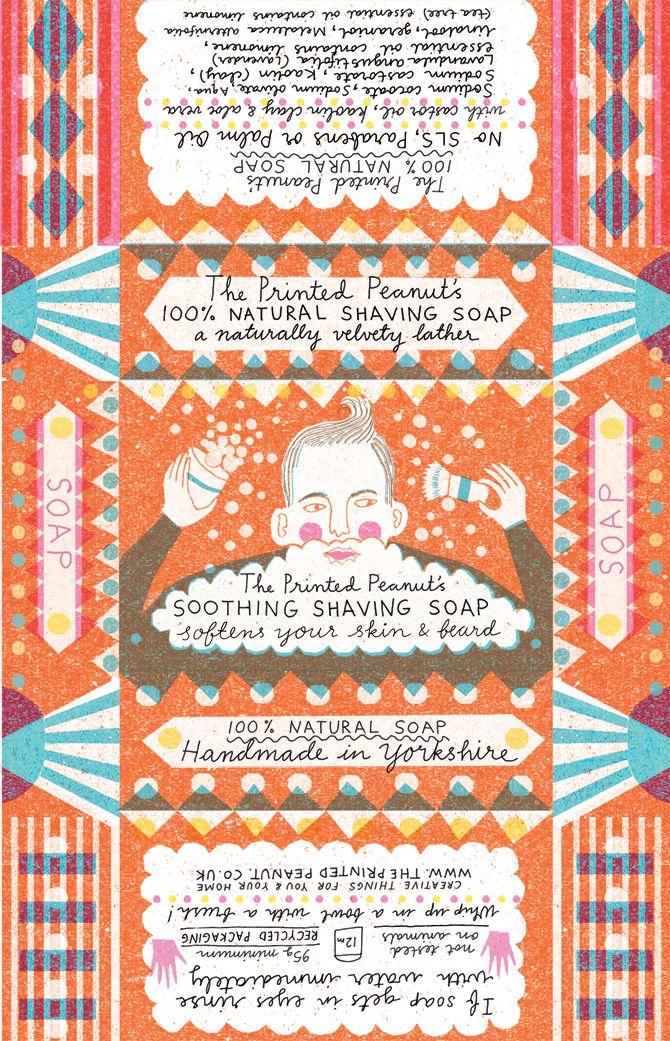 Soap - Louise Lockhart packet design packaging http://www.theprintedpeanut.co.uk