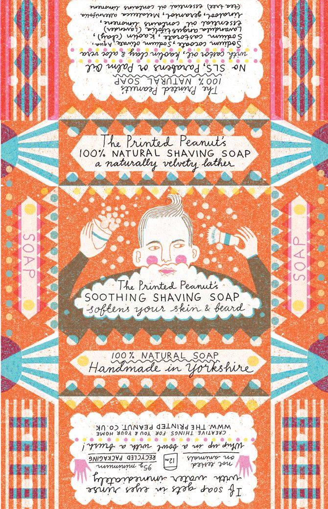 Soap packaging - Louise Lockhart   Illustration   Design   The Printed Peanut