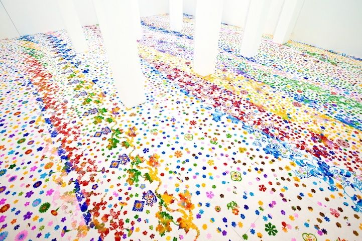 Colorfully Stenciled Garden at Singapore Art Museum - My Modern Metropolis