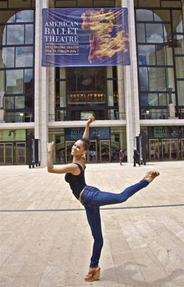 Misty Copeland in front of her Firebird poster!