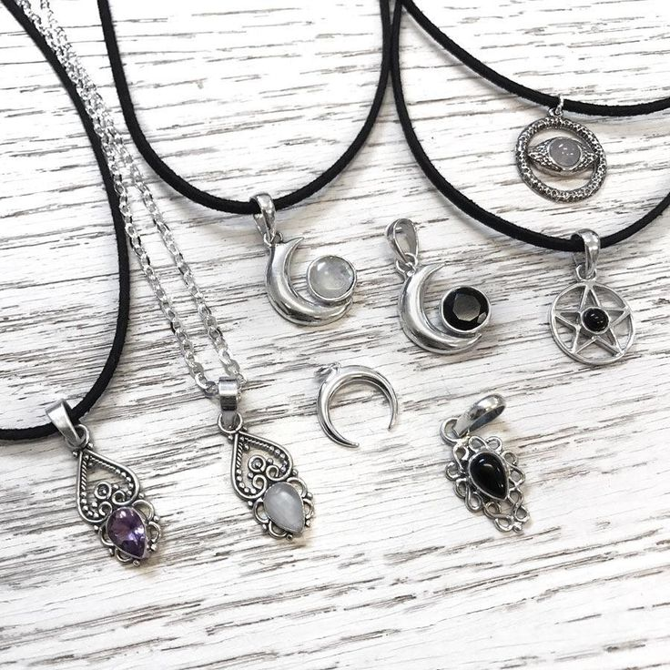 "Which one do you prefer? ✨  A) Amethyst Pendant  B) Moonstone Pendant  C) Black Onyx Pendant  -  -  -  Shop your sterling silver favourite with 30% OFF on our X-mas SALE. Use code ""bye2017"" at checkout ✨ #sterlingsilver #silver #silverpendant #choker #amethyst #moonstone #onyx #moonstonechoker #moonstonenecklace #sterlingsilvernecklace #onyx #witchy #occult #occultfashion #jewellery #hellaholics"