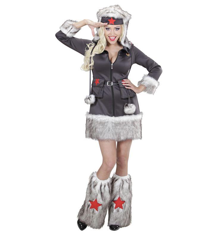 Disfraz de Mujer #Soldado  Incluye: Vestido, sombrero, calentadoresa  Composición: Punto y dacha http://www.disfracessimon.com/disfraces-adultos/2518-disfraz-mujer-soldado-p-2518.html