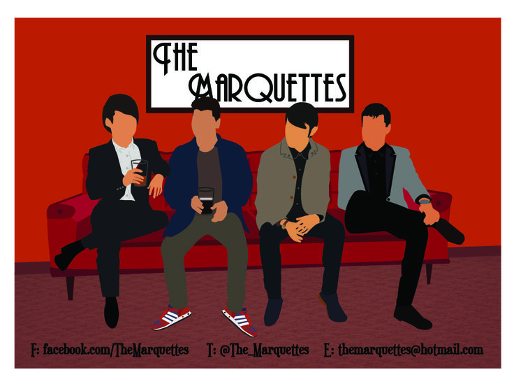The Marquettes A6 leavebehind