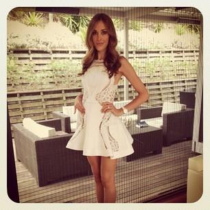 Rebecca Judd's J'aton Couture polo dress!
