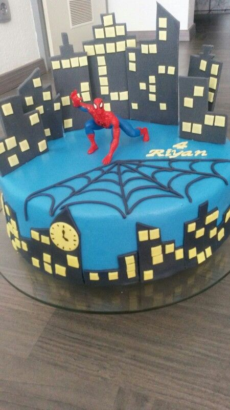 Spiderman-Torte