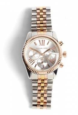 michael kors watches silver and rose gold chain strap. Black Bedroom Furniture Sets. Home Design Ideas