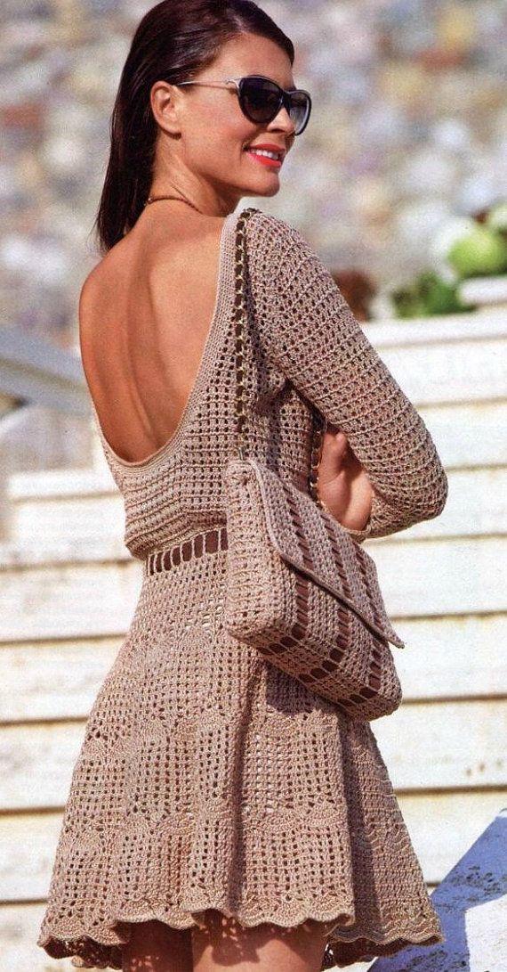 Beautiful crochet women summer dress by AsDidy on Etsy