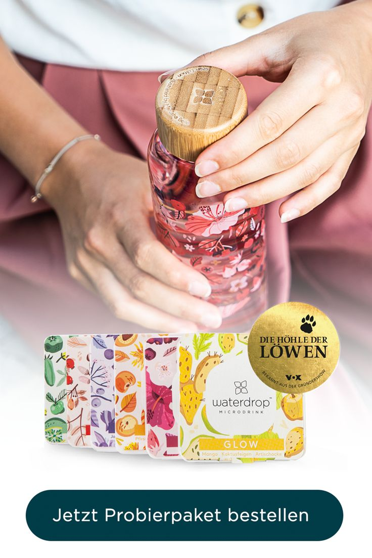 waterdrop® Microdrink Probierpaket & Glas-Trinkflasche – Alui Hala