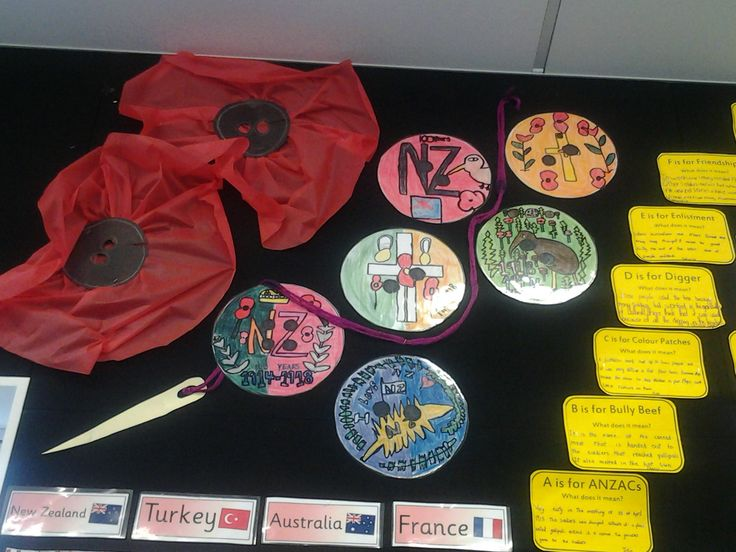 Inspired by the school journal story the 'ANZAC button'