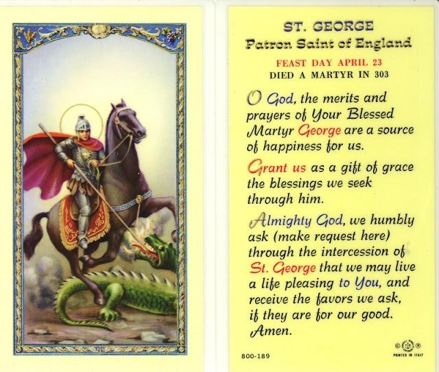 St. George ~ Patron Saint of England